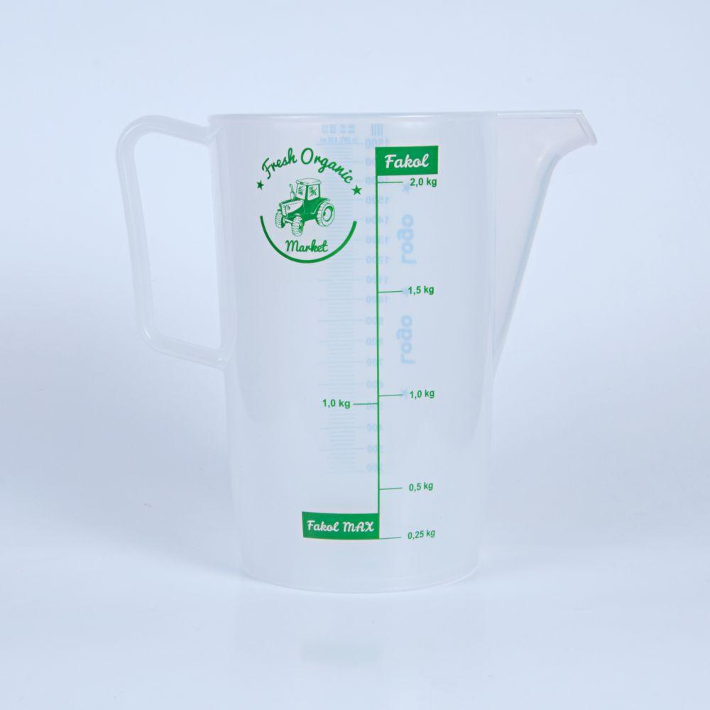 miarki.net - kubek miarka ze skalą 2000 ml 2 l z logo dla rolnika
