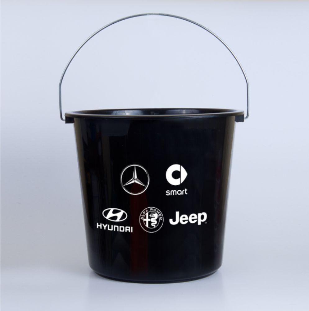 miarki.net - wiadro wiaderko 10 l czrne z logo